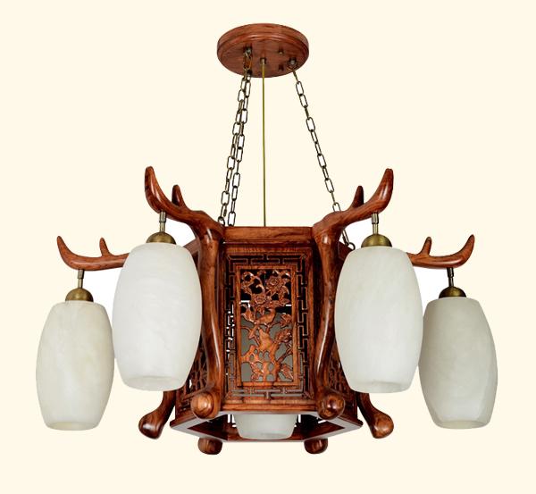 中式红木灯高档红木吊灯