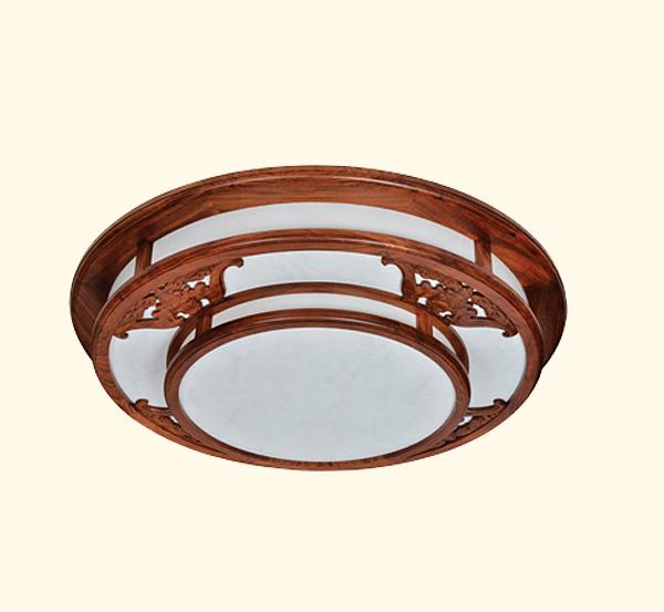 中式古典红木吸顶灯