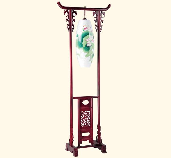 中式古典陶瓷落地灯