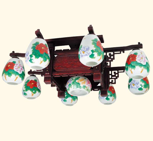 中式陶瓷灯经典陶瓷吊灯