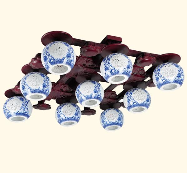 木艺灯中式古典陶瓷灯