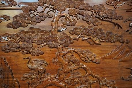红木整装雕刻工艺