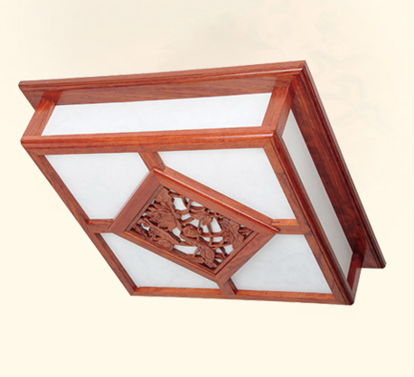 中式灯具红木云石灯