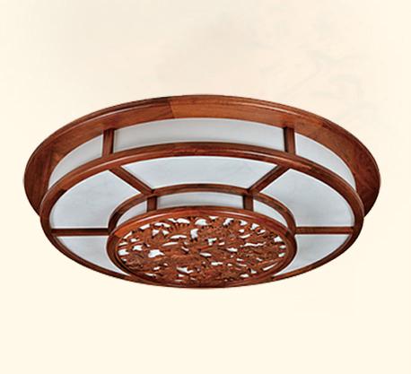 红木灯具古典木艺灯客厅吸顶灯