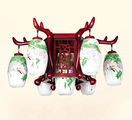 古典陶瓷吊灯 中式灯
