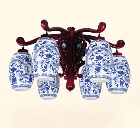 青花瓷陶瓷灯 中式陶瓷吊灯