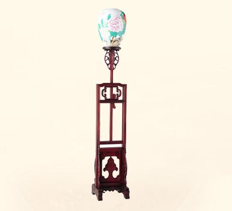 陶瓷落地灯 牡丹花