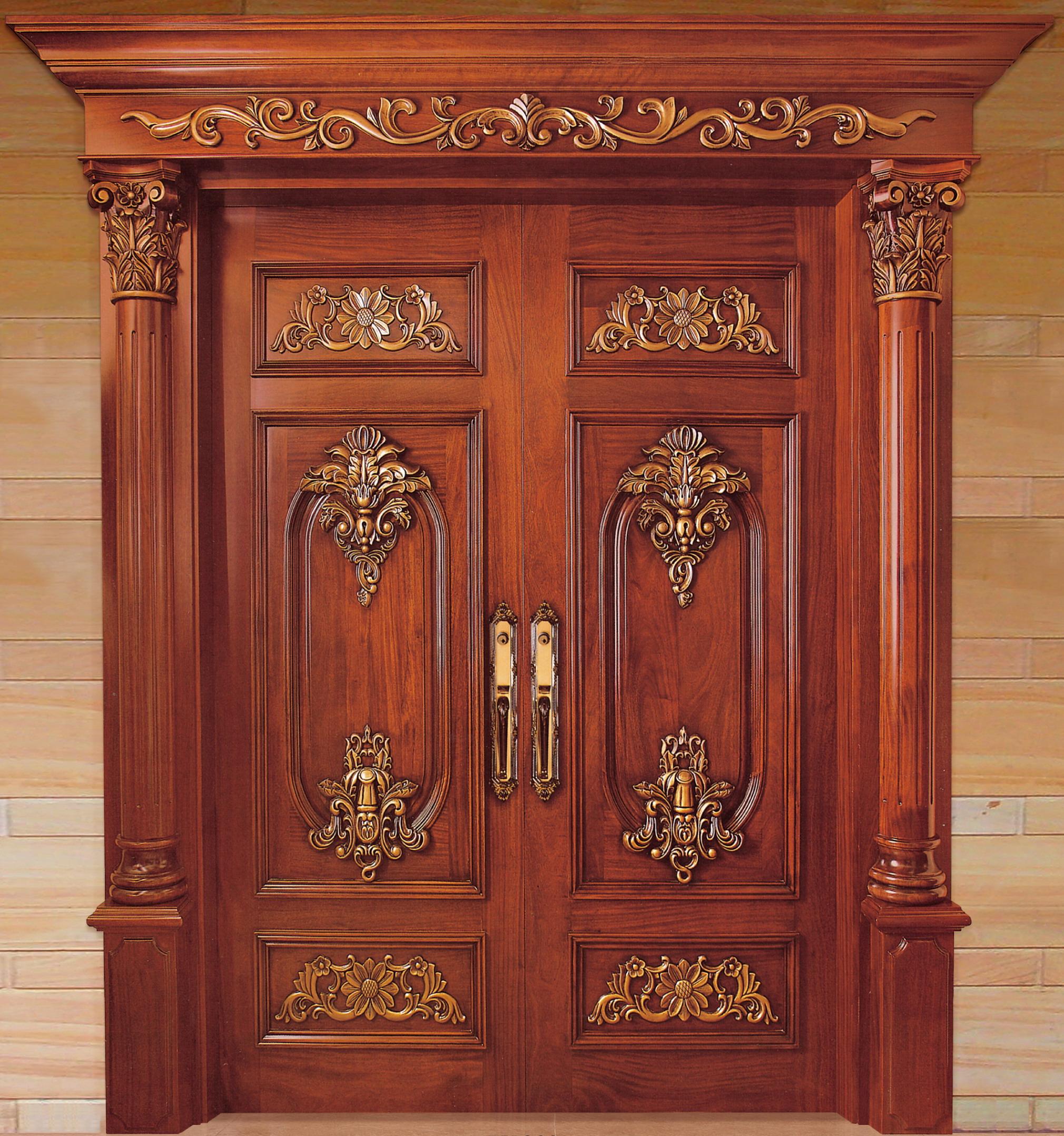 中式装修、红木整装、红木木门01