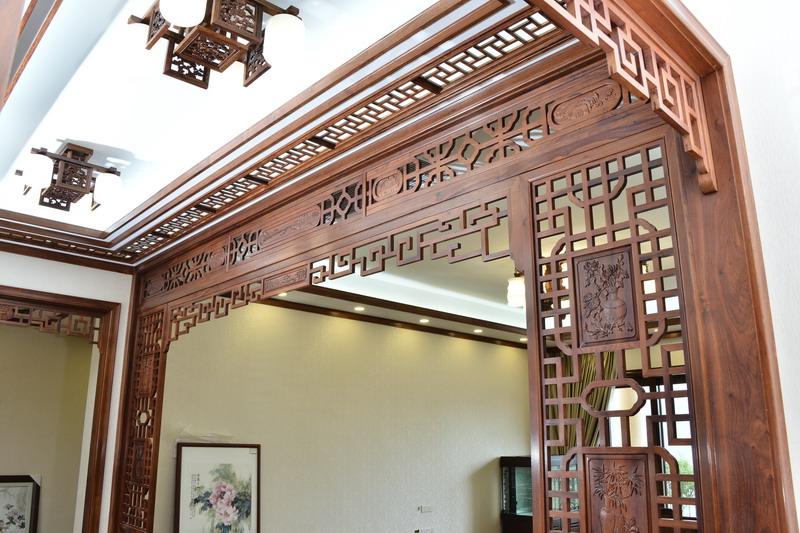 中式装修、红木整装、红木天花02
