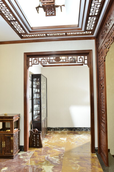 中式装修、红木整装、红木天花03