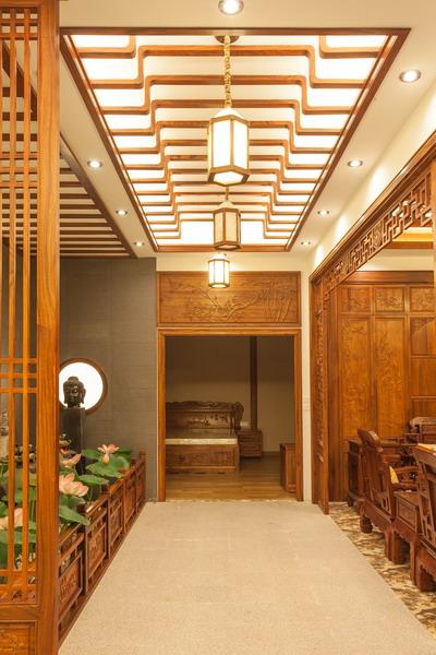 中式装修、红木整装、红木天花06