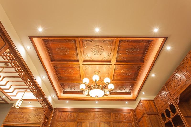 中式装修、红木整装、红木天花07
