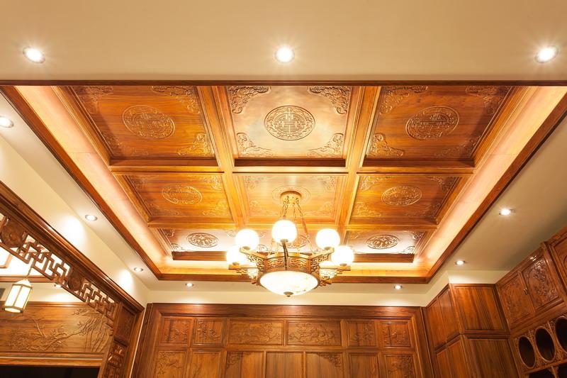 中式装修、红木整装、红木天花08