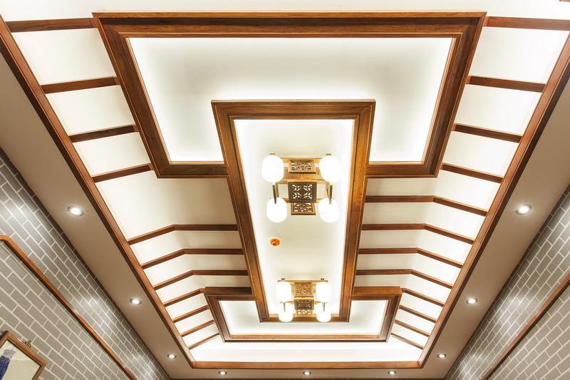 中式装修、红木整装、红木天花10