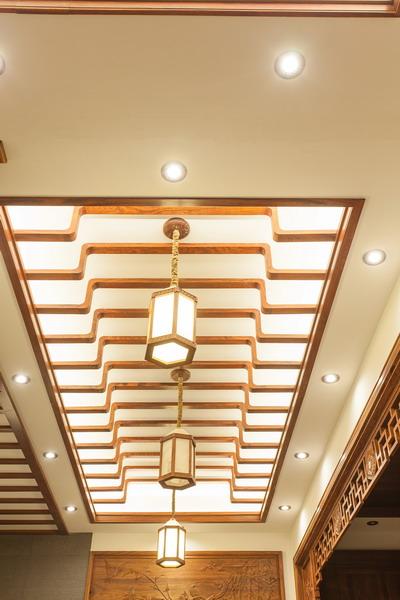 中式装修、红木整装、红木天花13