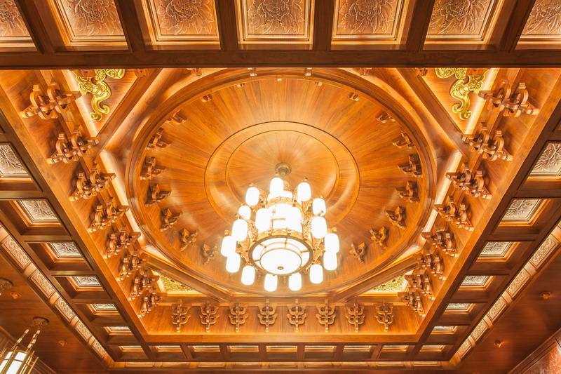 中式装修、红木整装、红木天花15