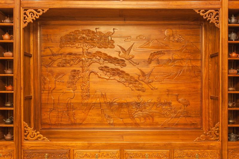 中式装修、红木整装、红木护墙板橱柜05