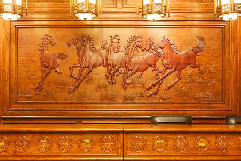 中式装修、红木整装、红木护墙板橱柜06