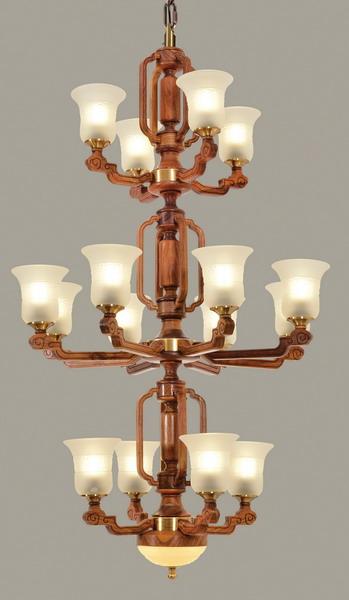 中式装修、红木整装、红木灯具01