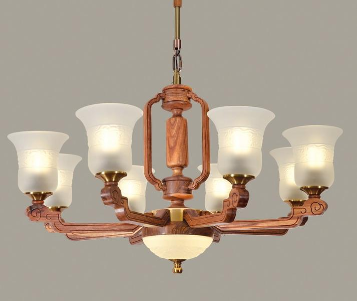 中式装修、红木整装、红木灯具02