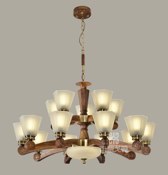 中式装修、红木整装、红木灯具03