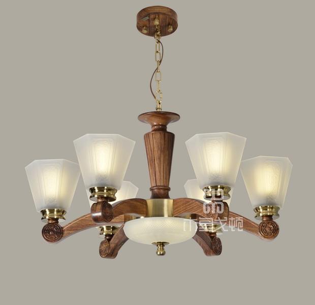 中式装修、红木整装、红木灯具04
