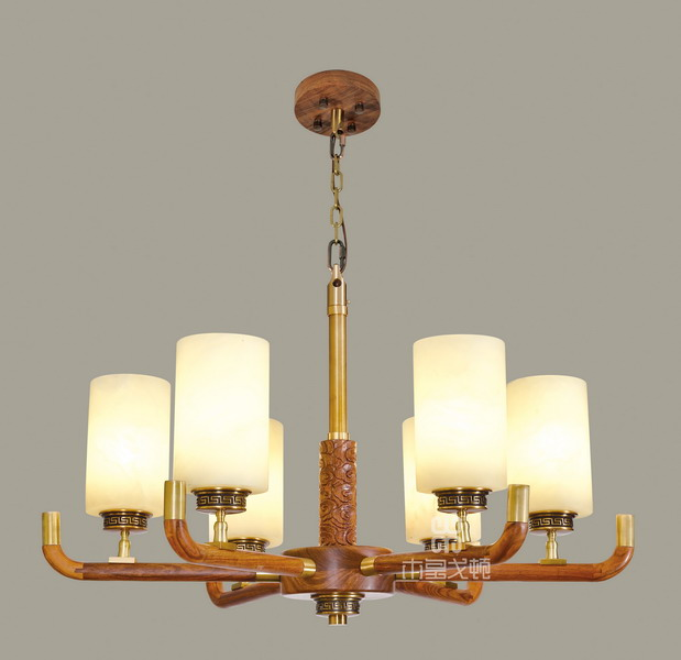 中式装修、红木整装、红木灯具05