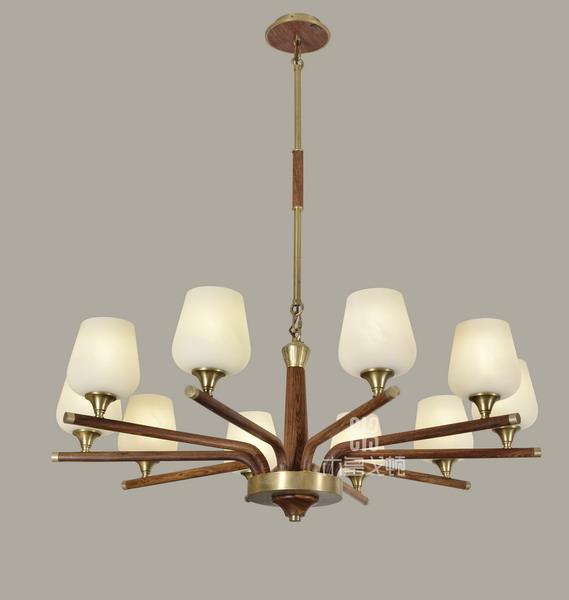 中式装修、红木整装、红木灯具06