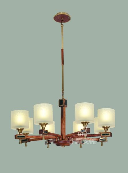 中式装修、红木整装、红木灯具08