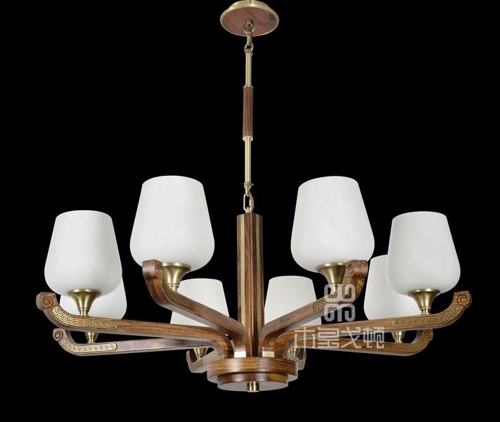 中式装修、红木整装、红木灯具10