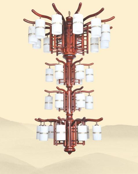 中式装修、红木整装、红木灯具13