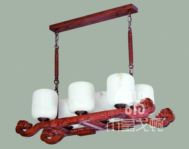 中式装修、红木整装、红木灯具14