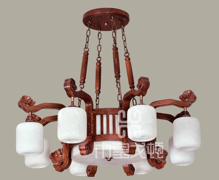 中式装修、红木整装、红木灯具15