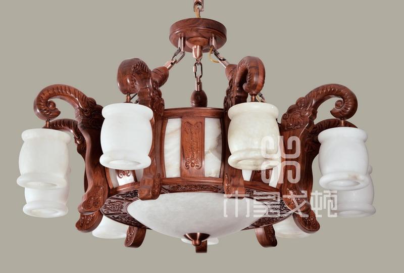 中式装修、红木整装、红木灯具16