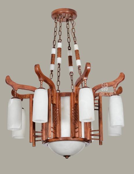 中式装修、红木整装、红木灯具17