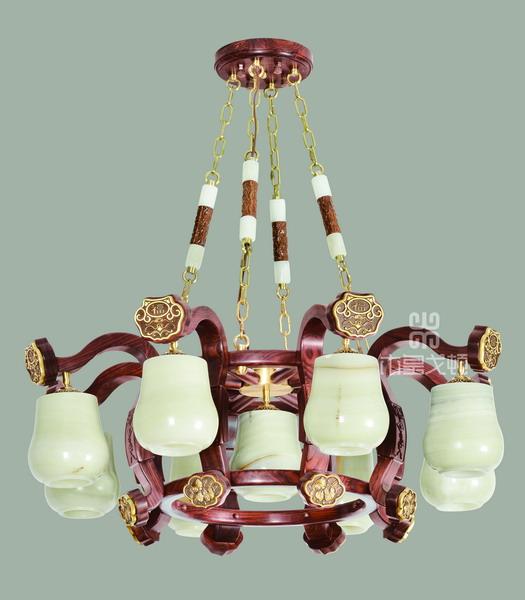 中式装修、红木整装、红木灯具18