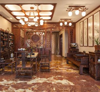 红木装修茶室